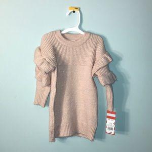 fancy pink sweater dress NWT🎀